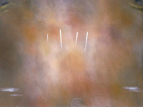 """The Fogbow Incident"" Oil on linen, 42in x 56in, 2001"